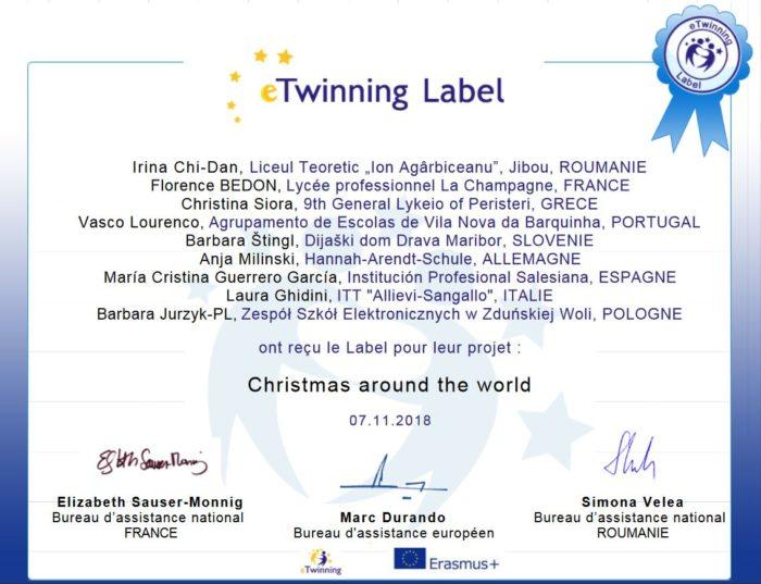 Certificat eTwinning
